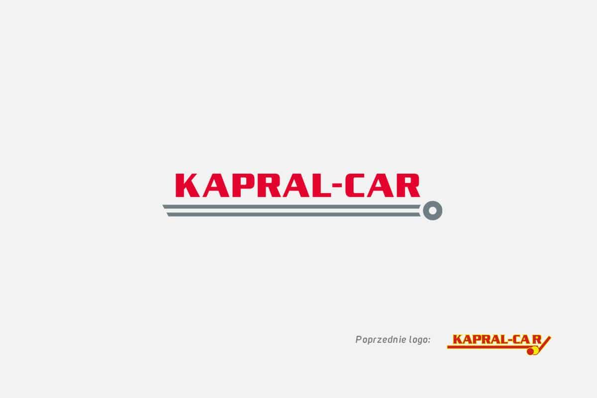 Rebranding logo firmy Kapral-Car z branży motoryzacyjnej działającej lokalnie - Barcin, Bydgoszcz, Toruń